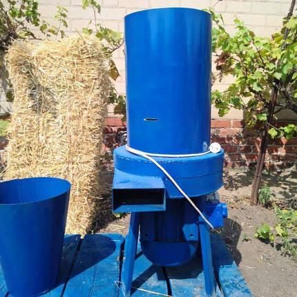 Соломорезка/Сенорезка + Зернодробилка 2в1 (измельчитель сена и зерна , траворезка) 3 кВт с Новым двигателем, фото 2