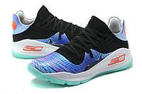Мужские баскетбольные кроссовки Under Armour Curry 4 Low (Black/Blue/White/Mint), фото 1