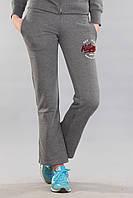 Серые хлопковые женские спортивные штаны Th 85