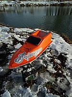 Кораблик для рыбалки 16000, 12v, ехолот, оранжевый