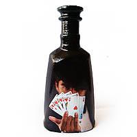 Декор бутылки в подарок для любителей игры в покер на новый год день рождения юбилей