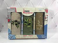 Подарочный набор кухонных полотенец Paris Bonjorno № 32473