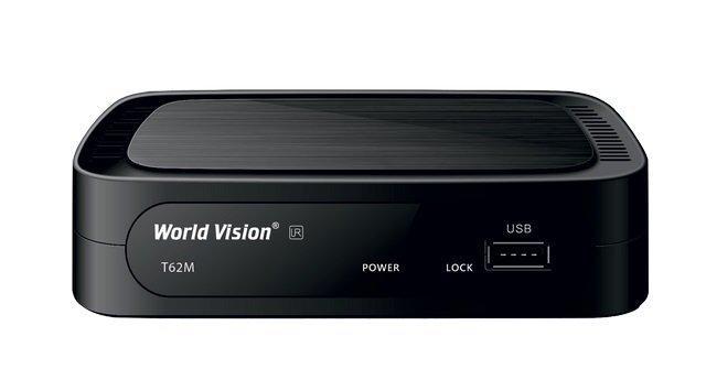Цифровой эфирный приемник T2  World Vision T62M