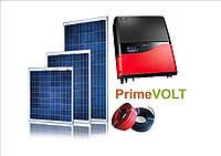"""Сетевая 3-ф солнечная станция """"Prime Volt"""", 10 кВт """"под зеленый тариф""""+C&T Solar"""