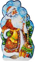 """Картонная упаковка """"Дед Мороз и Снегурочка"""" на 600г"""
