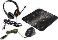 Мышь Defender Warhead MPH-1500 USB с игровой поверхностью и гарнитурой Black (52705), мышка