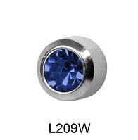 Завальцованные (сапфир) 4мм L209W(без покрытия)