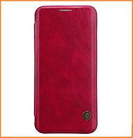 Кожаный чехол-книжка Nillkin Qin Series для Samsung Galaxy S8 SM-G950 Red