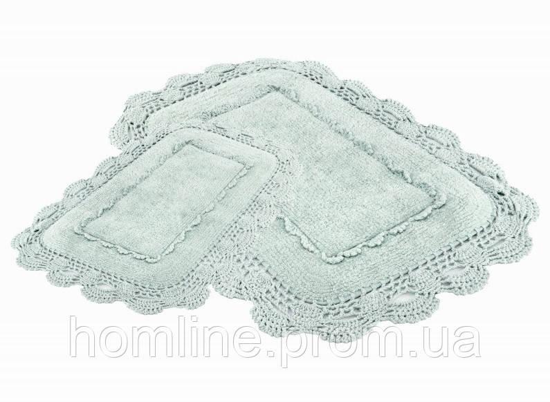 Набор ковриков для ванной Irya Anita 60*90+40*60 зеленый