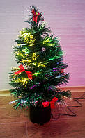 Светящаясяи  крутящаяся оптоволоконная елка 60 см