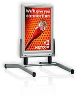 Штендер ECO Swing Master А1(0,85х0,60 м) 40 мм для улицы на двух опорах
