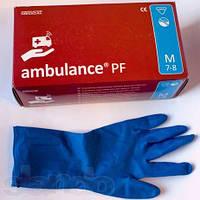 Перчатки AMBULANCE PF смотровые латексные без пудры  не стерильные, размеры S,M,L,XL , фото 1