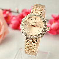 Женские часы Michael Kors MK Style со стразами бронзовые, фото 1