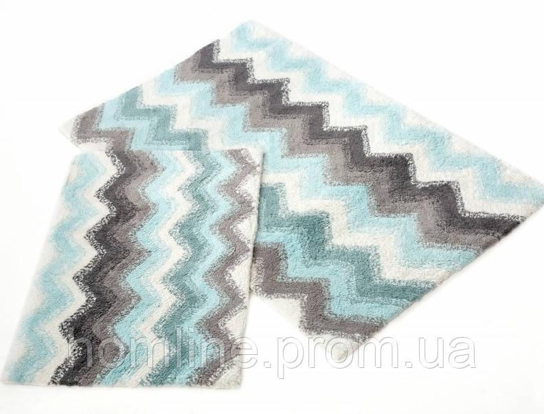 Набор ковриков для ванной Irya Leron 60*90+40*60 бирюзовый