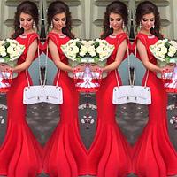 Коралловое платье А-силуэт
