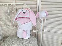 """Набор для новорожденного """"Мамина зайка"""", розовый, лето, деми, фото 1"""