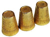 Наперстки (№10 Латунные) для ручного шитья, фото 1