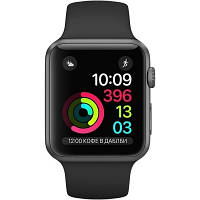 Apple Watch Series 2 MP052 38mm Space Gray Aluminum Case with Black Woven Nylon Band