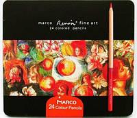 Карандаши Marco Renoir 24шт металлическая коробка