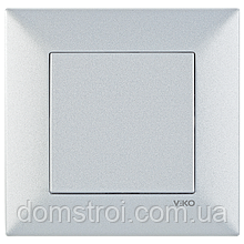 Выключатель 1-клав. VIKO Meridian Trenda серебро