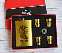 """Подарочный набор Фляга 4 рюмки """" Jack Daniels"""""""