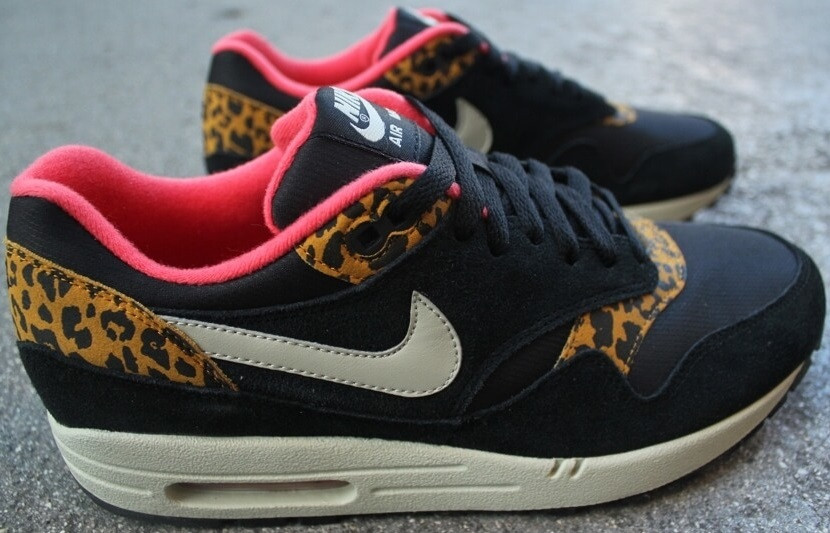 Air Max 1 Safari Grenouille Léopard Noir De
