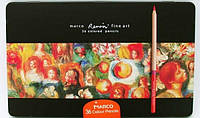 Карандаши Marco Renoir 36шт металлическая коробка