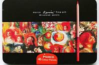 Карандаши Marco Renoir 48шт металлическая коробка