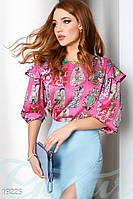 Блуза яркий принт Gepur 19225