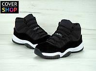 Кроссовки баскетбольные Nike Air Jordan 11 GS Heiress, материал - натуральная замша, подошва - пенка