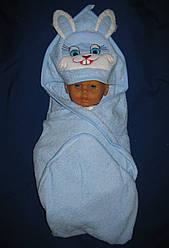 """Уголок для купания. """"Заяц"""". Полотенце с капюшоном. Пончо детское"""