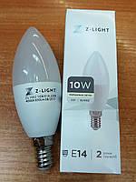 Светодиодная лампа Z-Light 10W E14 C37 850Lm 4000К (нейтральный свет)