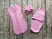 """Комплект коконов 0-3 мес., """"Капитоне"""" розовый, фото 1"""