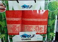 """Набор полотенец бамбук Bamboo  """"Moz"""" турецкого производства в подарочной коробке"""