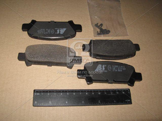 Колодка тормозная SUBARU IMPREZA/LEGACY/FORESTER задн. (производство ABS) (арт. 37164), ACHZX