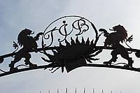 """Кованая арка для ворот """"Львы"""""""