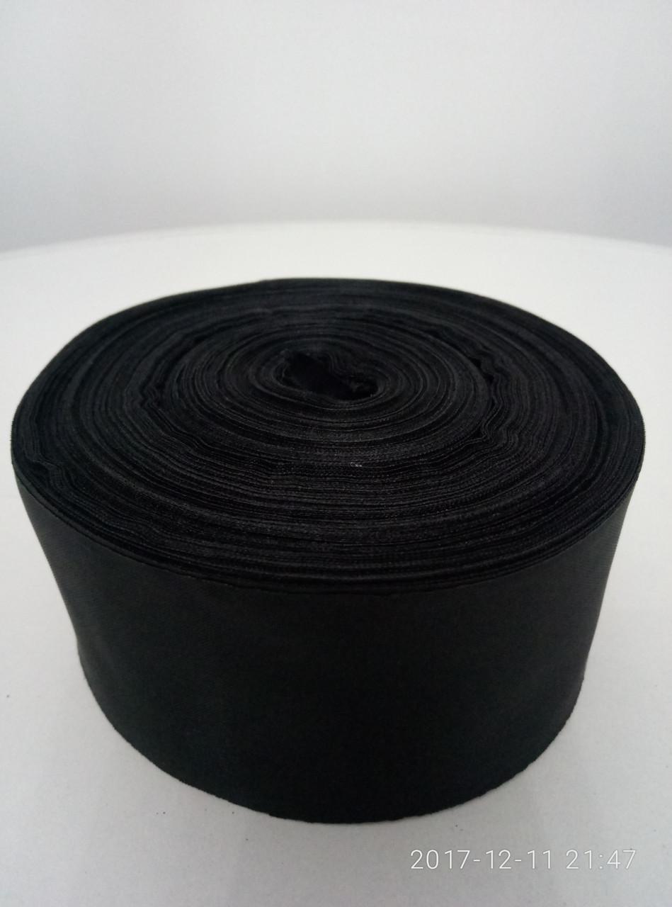 Лента черная шелковая 5см.