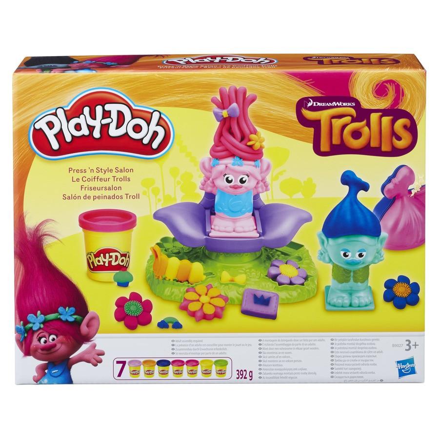 "Набор Play-Doh Dreamworks Trolls Press ´n Style Salon, салон парикмахерская троллей ""Выдави стиль "".Оригинал"
