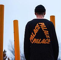Palace tri ferg orange • Черный свитшот с биркой • В наличии все размеры