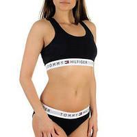 Комплект женского нижнего белья Tommy Hilfiger топ и слипы чёрный