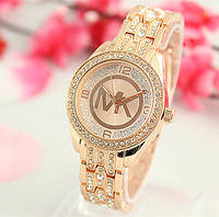 Женские часы Michael Kors MK Diamond со стразами бронзовые