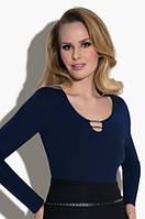 Женская блузка Marta Eldar синего цвета. Размер S