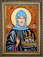 Святой князь Олег Брянский из янтаря