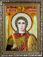 Ікона Архангела Михаїла з бурштину