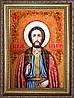 Икона святой Игорь из янтаря