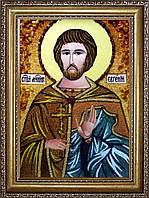 Икона Святого Мученика Евгения из янтаря
