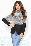 Комбинированный женский свитер Gepur 23319