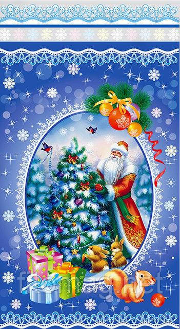 "Пакет  подарочный новогодний ""Дед Мороз"" до 800г"