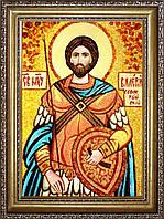 Икона Святого мученика Валерия из янтаря