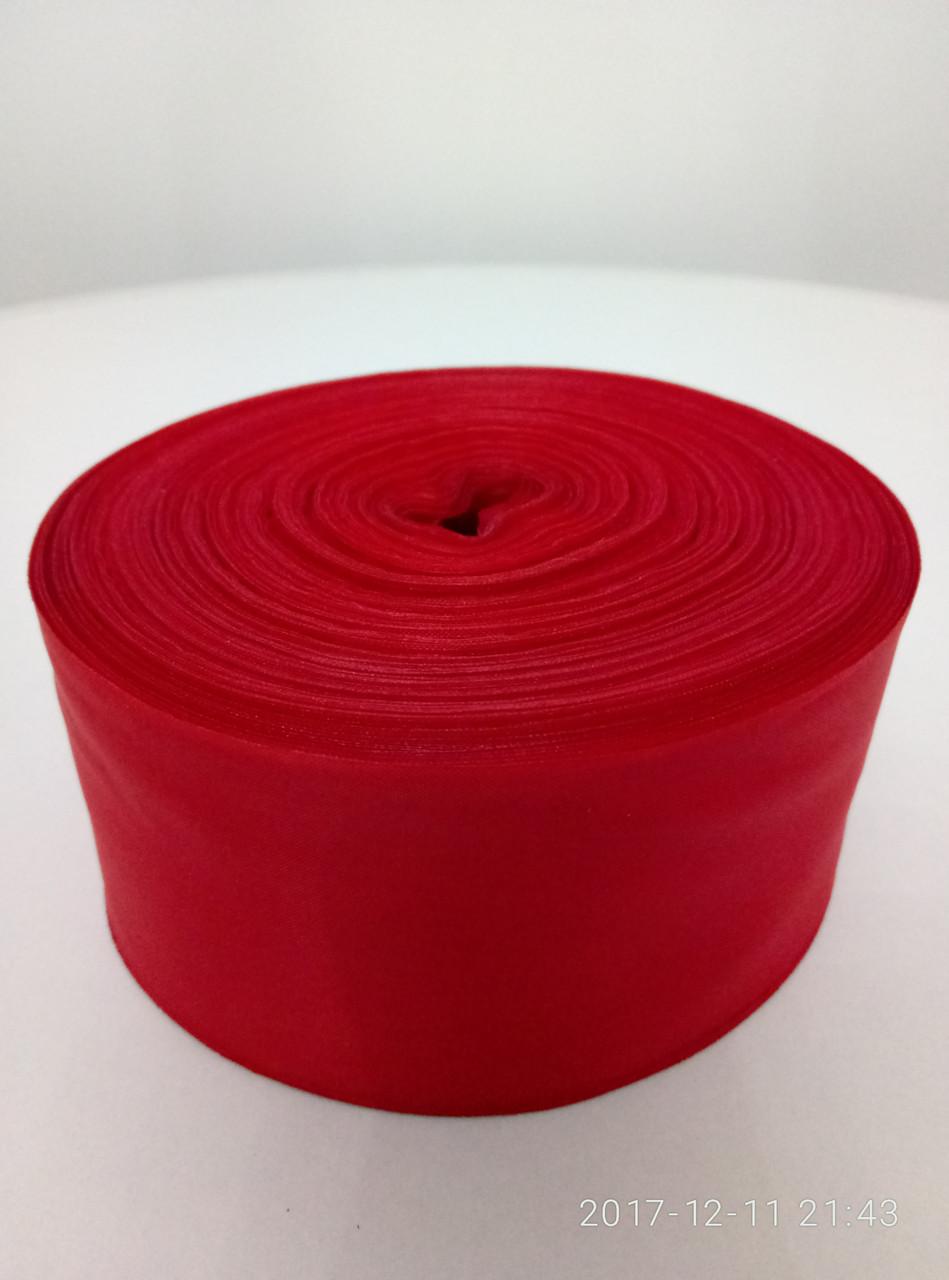 Лента красная шелковая 5см.